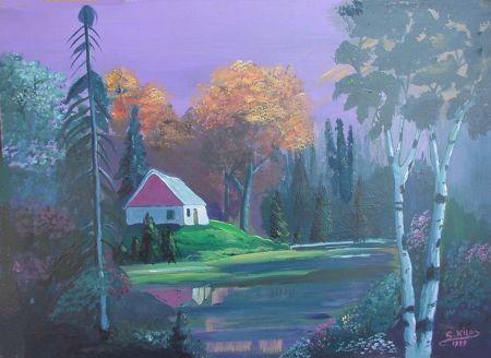 nature oil painting by saad kilo - Lakes Wallpaper ID 1495205 - Desktop Nexus Nature