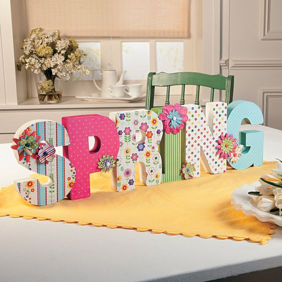 Do It Yourself: Bright Printed Letters