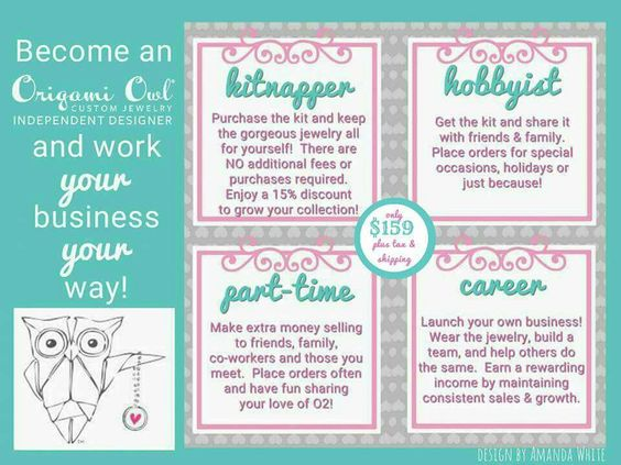Join my team and be part of an amazing network of women (and men) who love and support each other!  Expressionsjewelry.origamiowl.com