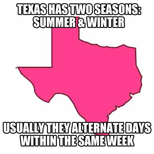 Texas weather predictions--I believe this week is a good example of that!