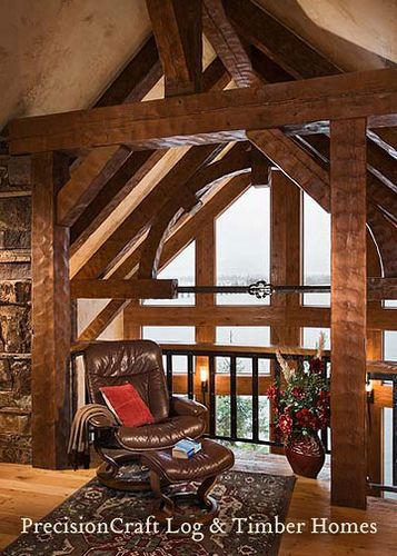 Loft with custom timber frame