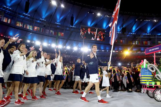 Andy Murray leads Team GB into Rio 2016 Opening Ceremony