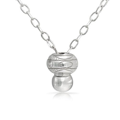 Best Jewel, Discount $60.00 (52%) - Bling Jewelry 925 Sterling Silver 27in Bevel Pendant Necklace Fits Pandora Beads Charm - Buy Now only $54.99 USD for 2 Items Available In Stock - Usually ships in 24 hours