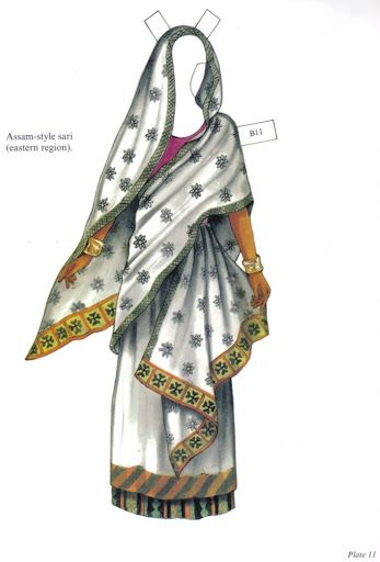 """Traditional Fashions from India Paper Dolls"" by Ming-Ju Sun 