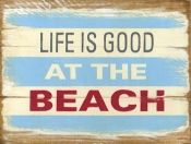 beach sign, would make a great oversized headboard!