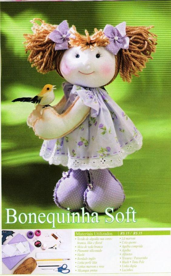 ARTESANATO FOFO: Boneca - Boneca Soft