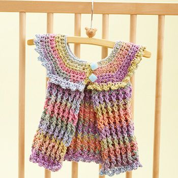 Bernat: Pattern Detail - Mosaic - Cotton Candy Baby Tunic ...