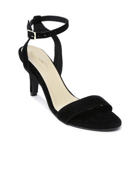 Buy Monrow Women Black Heels - Heels