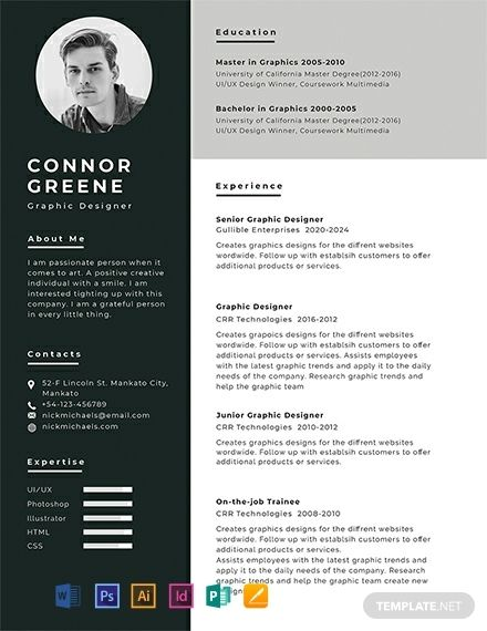 Experience Resume Cv Template Word Psd Indesign Apple Pages Illustrator Publisher Free Resume Template Word Cv Template Free Graphic Design Resume