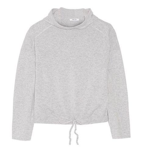 Chic sweats: Helmut Lang hooded cashmere top / Garance Doré