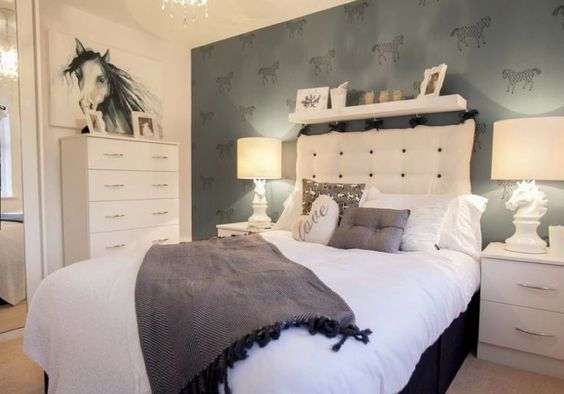 Equestrian Grey Horses And Bedrooms On Pinterest