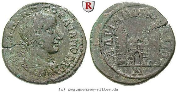 RITTER Thrakien, Hadrianopolis, Gordianus III., Stadttor #coins