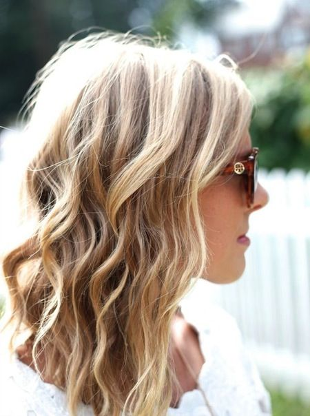 how to get soft waves in medium length hair