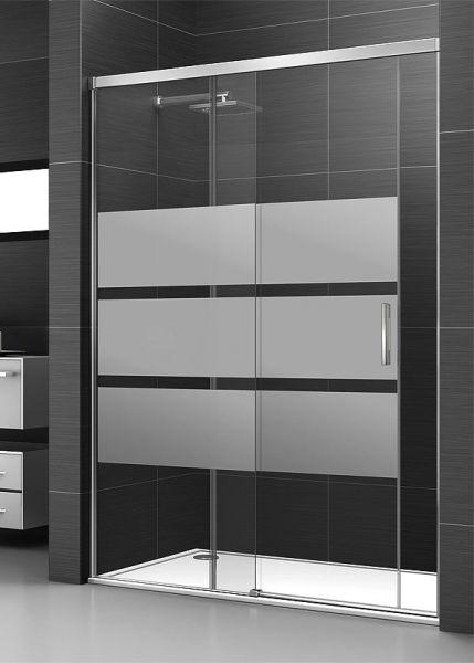 Mampara de ducha corredera de 1 puerta y 1 fijo ideal - Puerta corredera cristal bano ...
