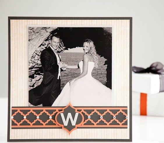 simple elegant wedding photo album page layouts | Simple Monogramed Wedding Layout
