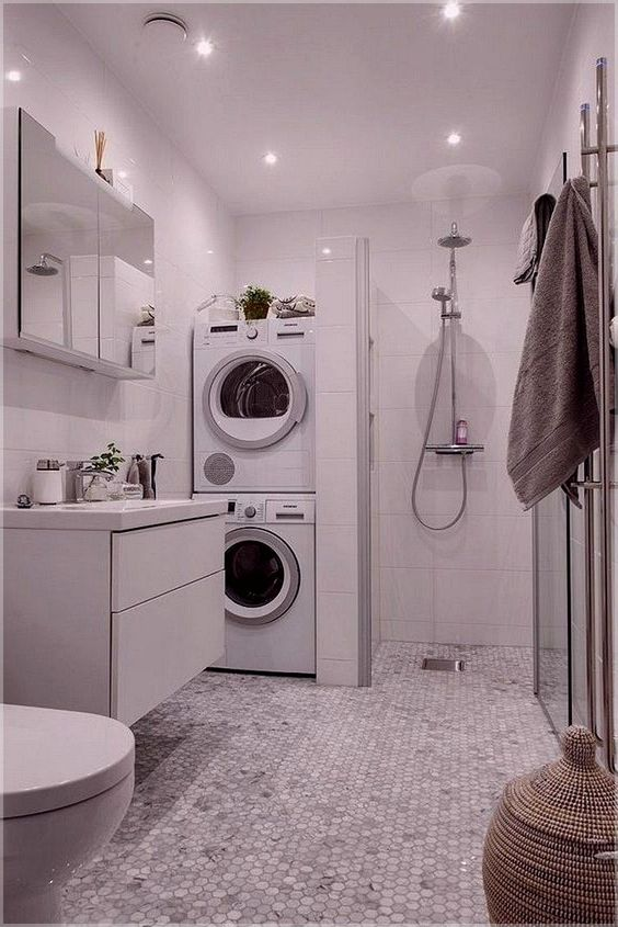 82 Remarkable Laundry Room Layout Ideas For The Perfect Home Drop Zones Homelovers Laundry In Bathroom Laundry Room Design Laundry Design