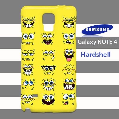 Spongebob Squarepants Funny Face Samsung Galaxy Note 4 Case Cover