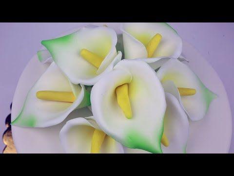 Cukrowa Kalia Najprostszy Kwiat Z Lukru Bez Foremek Youtube Fruit Kwiat