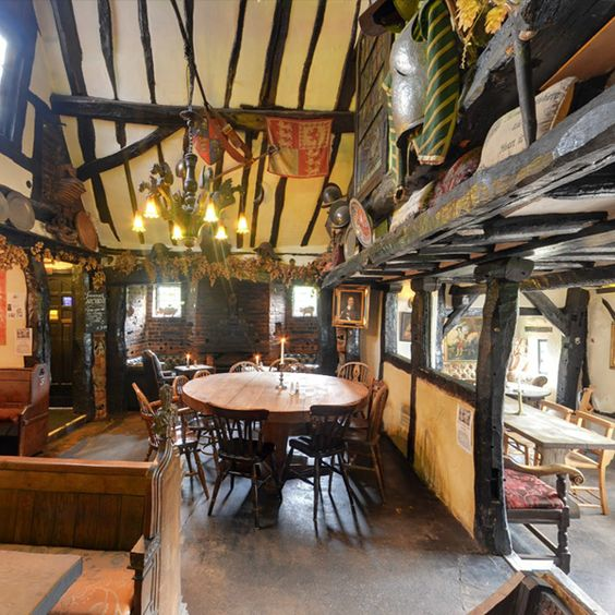The Royal Standard of England in Beaconsfield, Buckinghamshire, England is the oldest Free house in England and dates from 1213. King Charles II is thought to have stayed at the pub with one of his mistresses