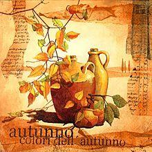 Serviettes en papier 'automne', tons marron