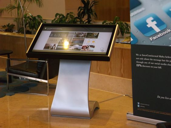 interactive digital signage touch display
