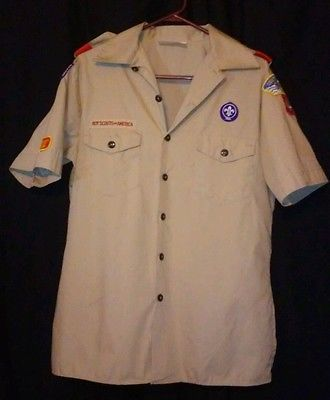Ebay auction now! Recycle and SAVE!  Youth XL Boy Scout/Cub Scout Uniform Shirt- gently used, some patches sewn on