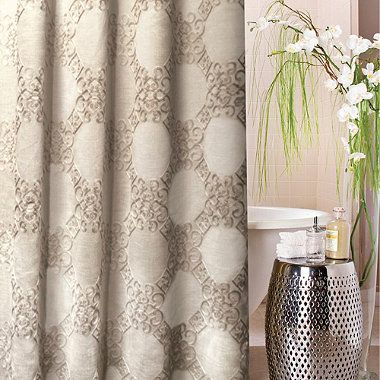 Kenzie Embroidered 72-Inch x 72-Inch Shower Curtain ...