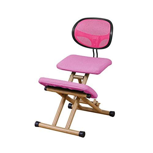 Wooden Kneeling Chair Orthopaedic Stool Ergonomic Posture Frame Seat 4 Color