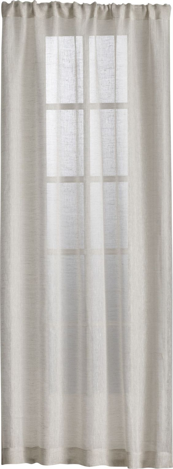 Natural curtains curtain panels and linens on pinterest for Linen sheer window panels