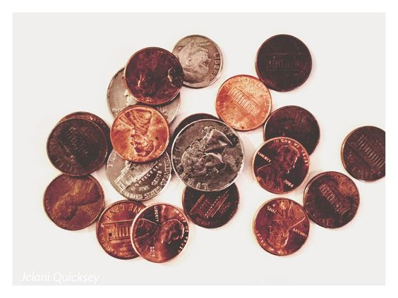 #money #dinero #photography #photooftheday #like4like #photo #pennies #quarters #awesome #unique #copper by zx_shots