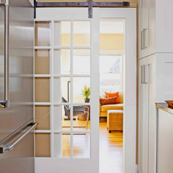 Dividing living room with farm door??