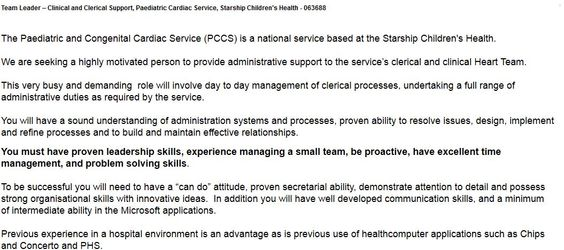 Ward Clerk (Part Time) - Ward 33 North, Medicine, Middlemore - clerical experience