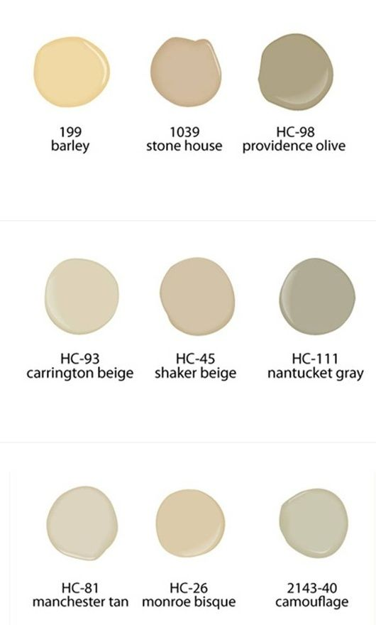 Shaker beige neutral paint colors from benjamin moore for Neutral cream paint color