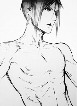 Black Butler ~~ Shirtless demon :: Sebastian Michaelis