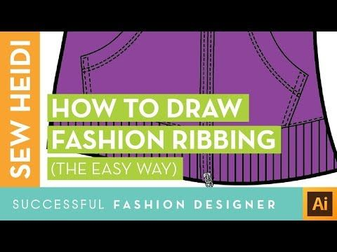 Ribbing For Cuffs Collars 2 Ways To Do It Fashion Design Template Blend Tool Fashion Design Jobs
