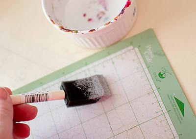 How to get those Cricut mats to restick! Use Aleene's Tack It Over and Over Glue.  I might have to try this.