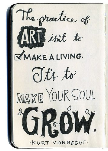 How about creating art to make your soul grow AND make a living of it as well? Thought so! :) Here is how: http://creativewebbiz.com/art-of-selling-art-online/: