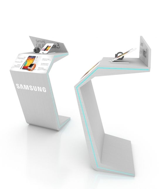 Custom Exhibition Stand Examples : Samsung note stand on behance display pinterest