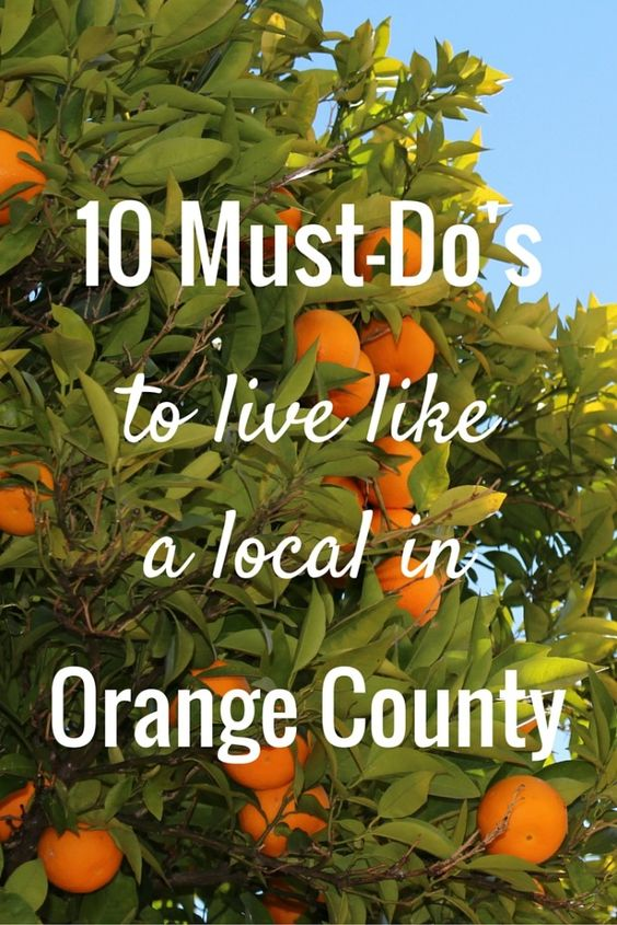 Gotta try some of these! Locals' favorite things to do in Orange County, CA.