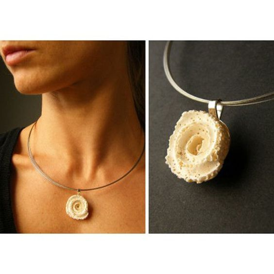 FREE Shipping Coralring,  pendant, Silver 925, white Coral,  Statement, New -  UNIQUE- Handmade von JewellryWithSoul auf Etsy