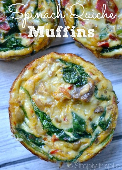 Spinach Quiche Muffins
