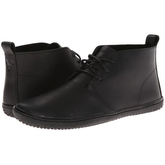 Vivobarefoot Gobi Women's Shoes, Black ($75) ❤ liked on Polyvore featuring shoes, black, vivobarefoot shoes, black chukka boots, chukka ankle boots, leather footwear and leather shoes