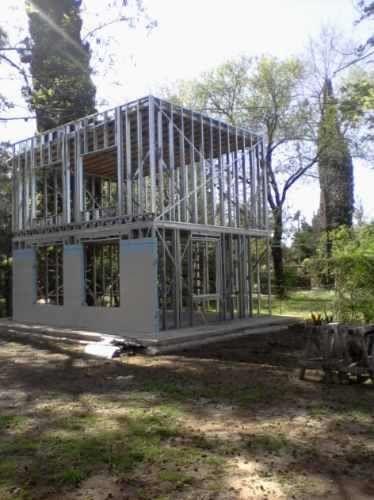 Steel frame steel and frames on pinterest - Contrucion de casas ...