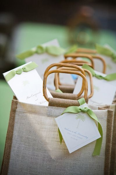 welcome bags for out of town guests...something to consider, though might be too expensive