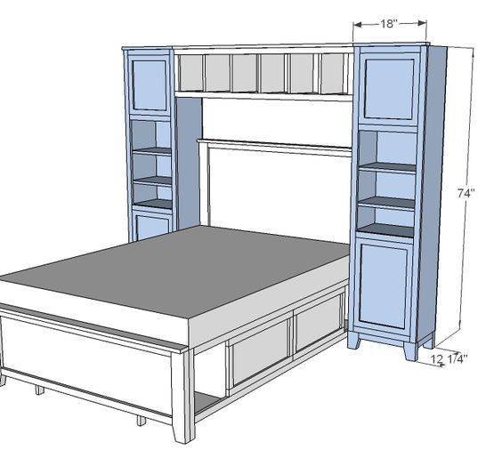 Storage Beds Ana White And Towers On Pinterest