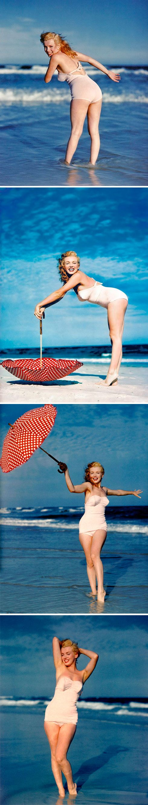 Marilyn Monroe - Tobay Beach, Long Island 1949 #MarilynMonroeSpasAtHyattRegencyMonterey: