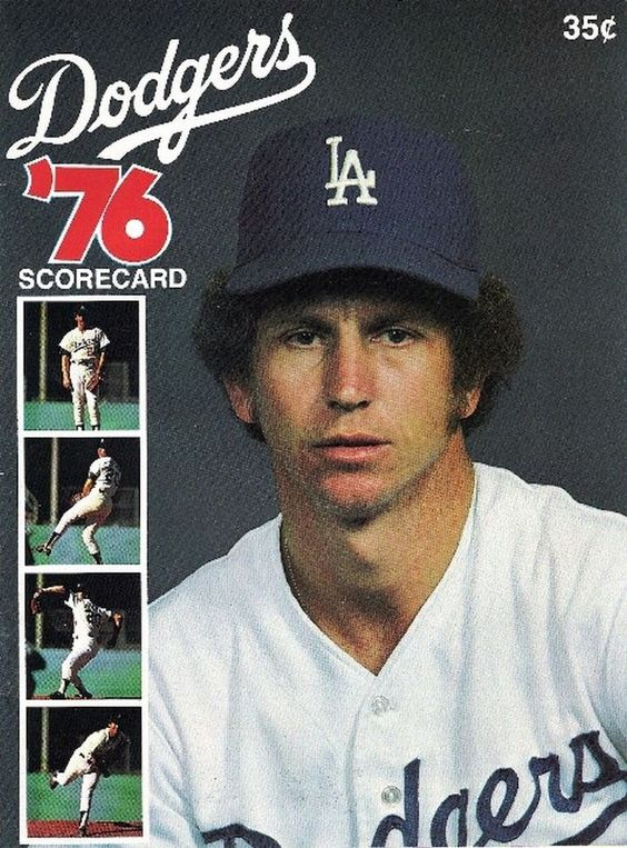 DON SUTTON 1976 LOS ANGELES DODGERS vs CHICAGO CUBS GAME DAY PROGRAM #LosAngelesDodgers