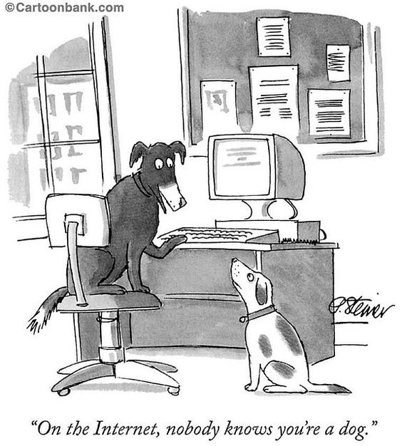 On the Internet, no one knows you are dog.