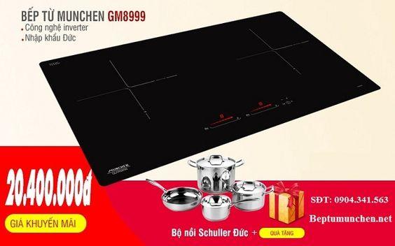 Chọn bếp từ tiết kiệm điện, đun nấu nhanh khó ai vượt qua bếp từ Munchen GM 8999