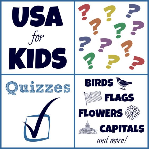 USA Facts for Kids Quizzes - Birds, Flags, Flowers, Capitals, Quarters, Vice Presidents, and more!